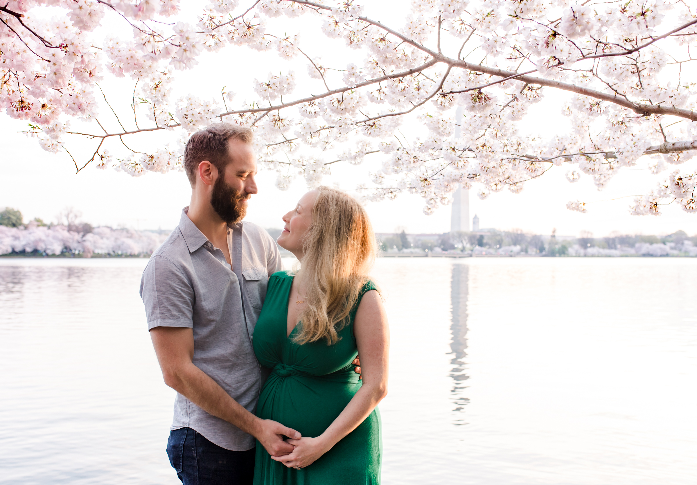 Maternity Photography, Cherry Blossoms DC